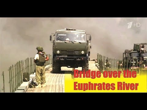 [ Syria ] Russian military specialists built a bridge across the Euphrates River