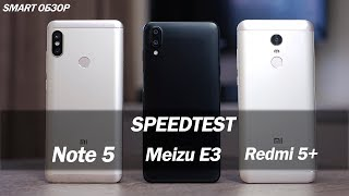 Xiaomi Redmi Note 5 vs Meizu E3 vs Redmi 5+ : тест запуска приложений!