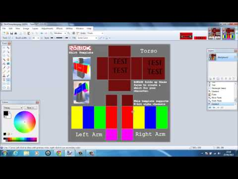 Roblox clothes tutorial 1 intro to paint net templat for Roblox shirt maker android