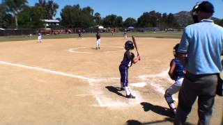 20140614 poway summer heat classic vs vista navajo 8u white all stars girls softball