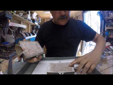 How To Sand Cast a Piece of Silver Jewelry, part one of two.