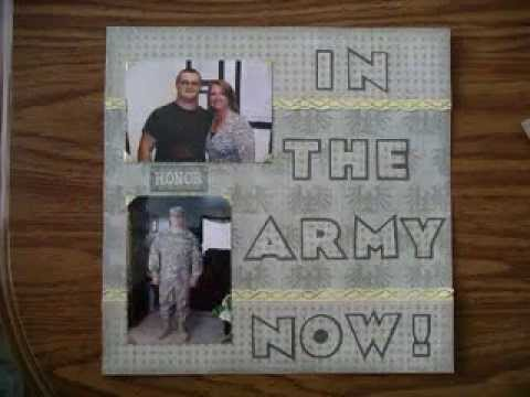 Military Scrapbook Decor Ideas Youtube