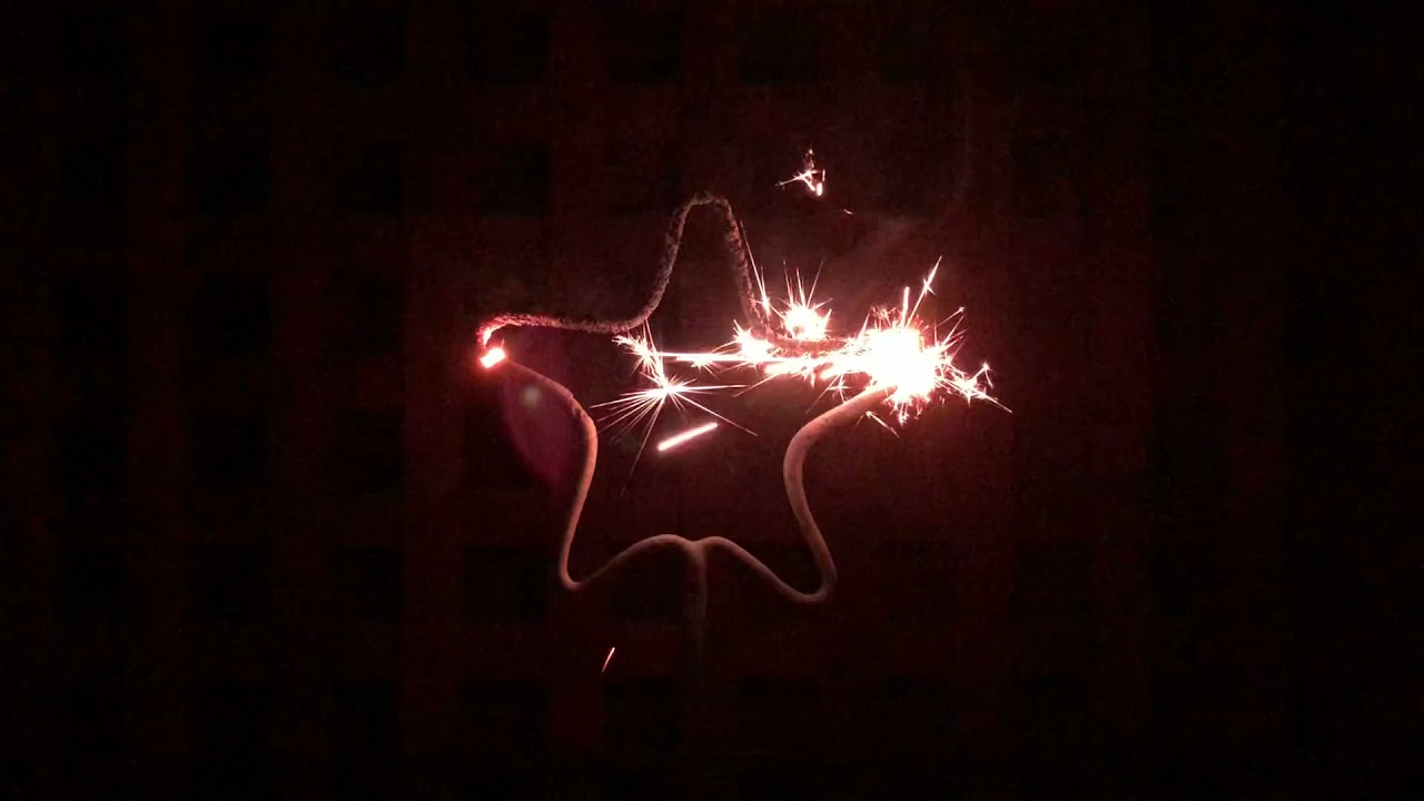 Star Shaped Sparkler by Standard Fireworks