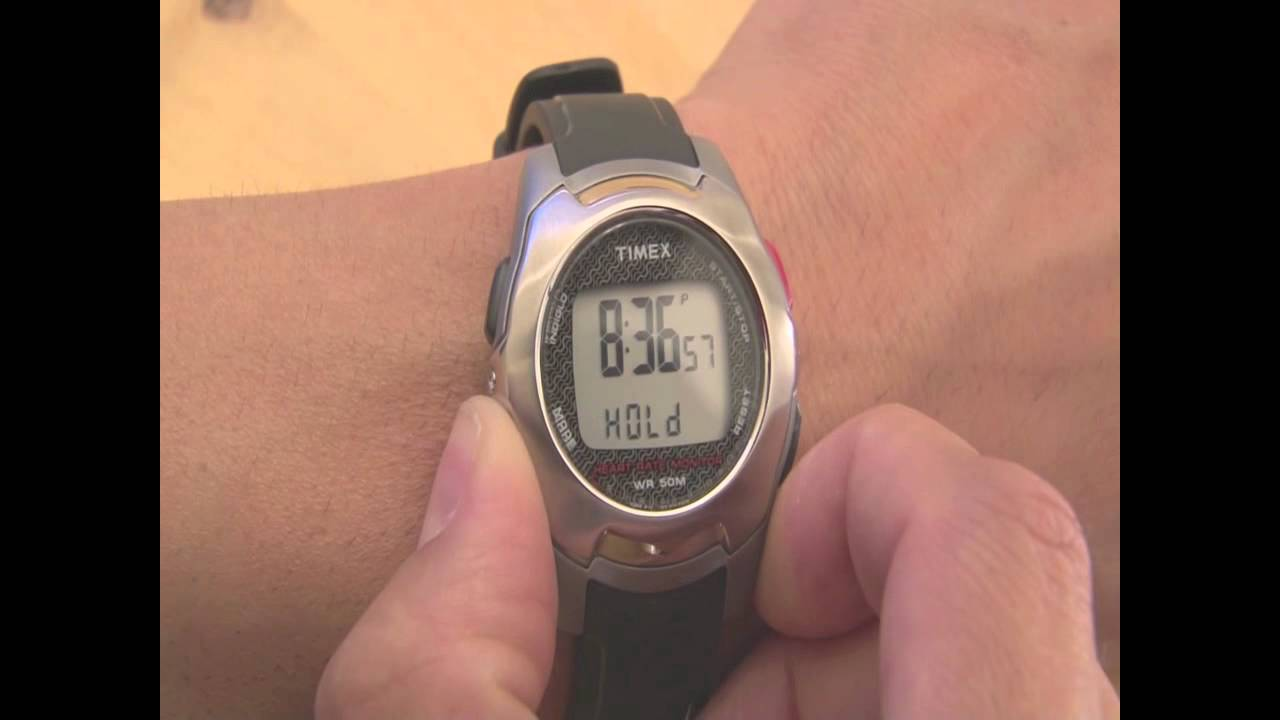 New old stock* timex t5g971 heart rate monitor digital watch / 50m.