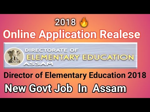 Director Of Elementary Education, Assam Online Apply|