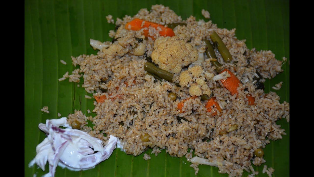 Dindigul Thalapakatti veg Biryani without cooker in Tamil | How to make veg Dum Biryani