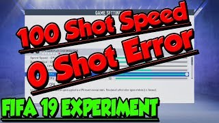 Simulating A Match With The Best Shooting Sliders - FIFA 19 Experiment
