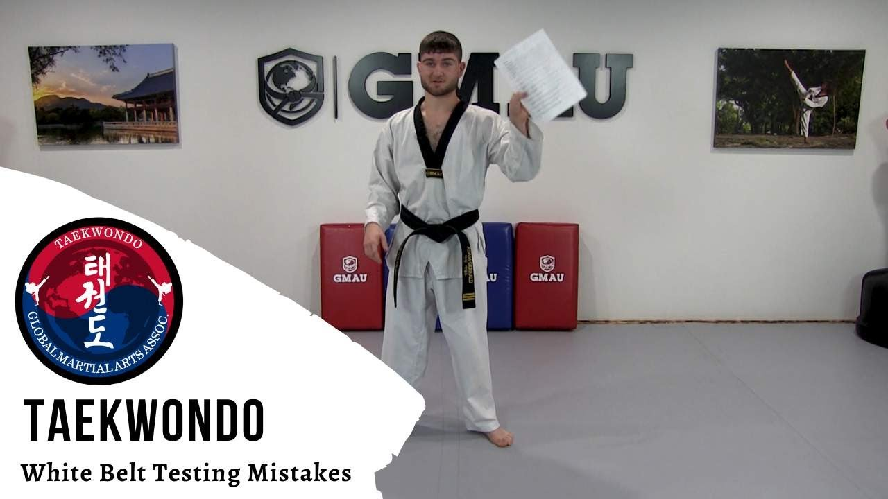 Taekwondo - White Belt Testing - Common Mistakes