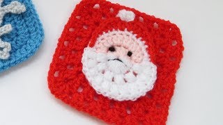Santa Granny Square Tutorial 1