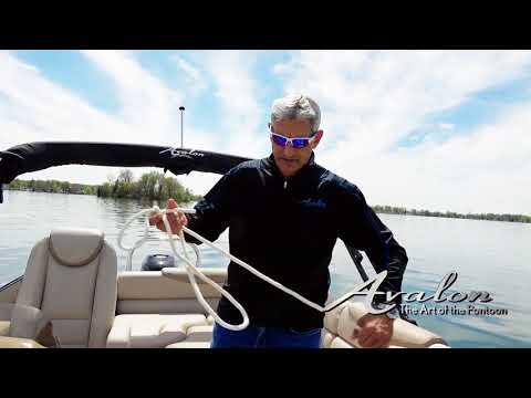 10)Prepping Dock Lines | 2017 Avalon Luxury Pontoons