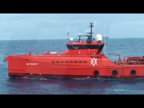 Oceanicasub V at worksite - First Navigation & ROV and Diving Operations