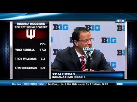 Indiana Basketball Coach Tom Crean at Big Ten Basketball Media Day