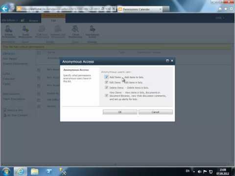 Настройка анонимного доступа в Sharepoint Server 2010