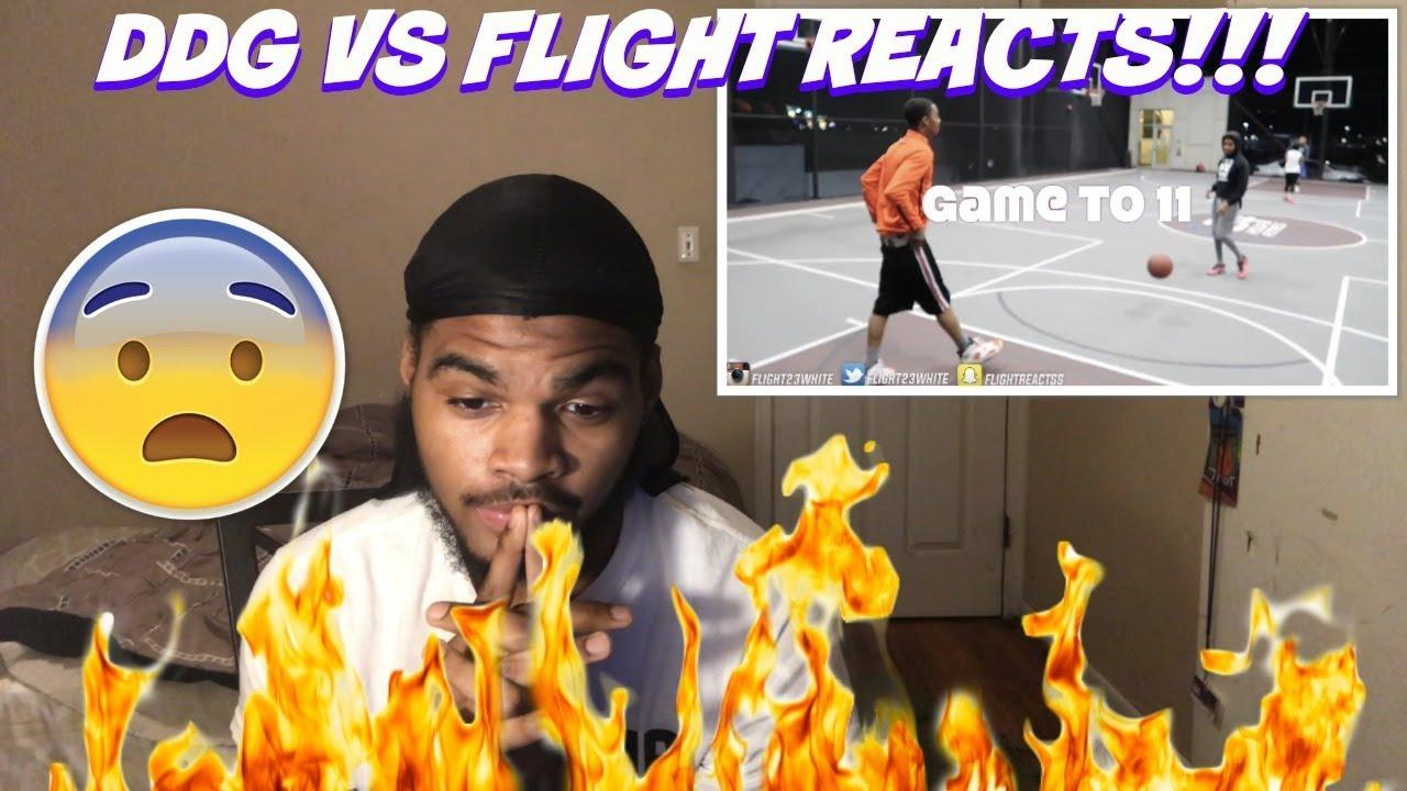 FlightReacts Vs DDG 1v1 Basketball Match REACTION!! FLIGHT ...