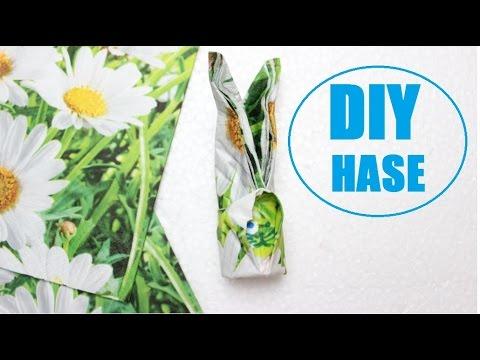 DIY Osterhasen Basteln Aus Servietten Osterdekoration