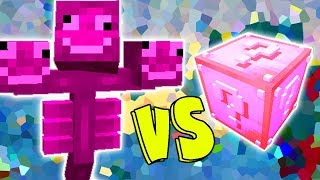 WITHER ROSA VS. LUCKY BLOCK (MINECRAFT LUCKY BLOCK CHALLENGE PINK WITHER)