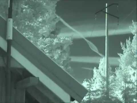 Chemtrail spraying in Norway - with Infra-Red camera - one week in May 2012