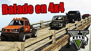 """GTA V RP - Balade """"réaliste"""" en 4x4 !"""