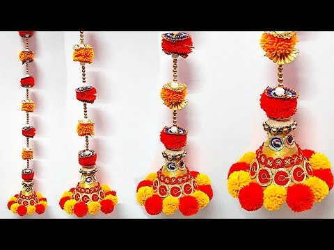 Easy Door hanging making at home|DIY Diwali decoration ideas |Best out  Of Waste