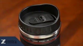 حافظة الشراب على شكل الكاميرا
