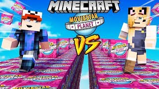SZALONY WYŚCIG! - MOVIESTARPLANET LUCKY BLOCKI RACE MINECRAFT | Vito vs Bella