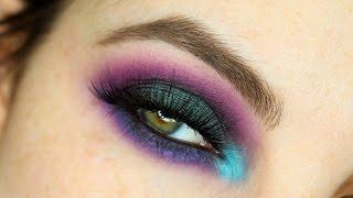 colorful oil slick inspired smokey eye using the make up for ever volume 2 artist palette