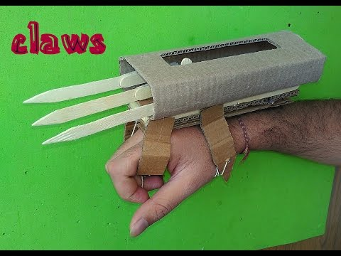 How To Make X-MEN WOLVERINE Hand Claws - Paper & Cardboard Hand Claws - Game Toy For Kids Story