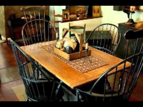 Country primitive decorating ideas - YouTube