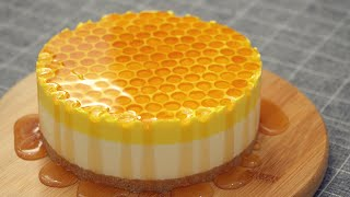 No Bake Honey Cheesecake
