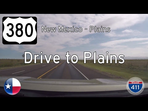 US Highway 380 - New Mexico State Line - Plains - Texas | Drive America's Highways 🚙