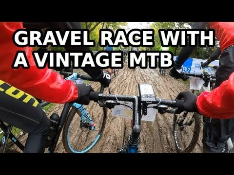 Gravel Race With The 1995 GT Bike - Crash Video Included