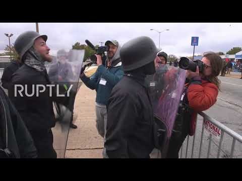 USA: 'White Lives Matter' rally meets counter protest in Tennessee