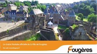 Vues du fabuleux château de Fougères prises par un drone