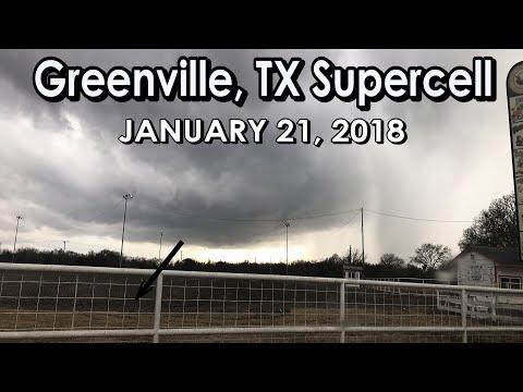 Northeast Texas Tornado Warned Storms! January 21st, 2018