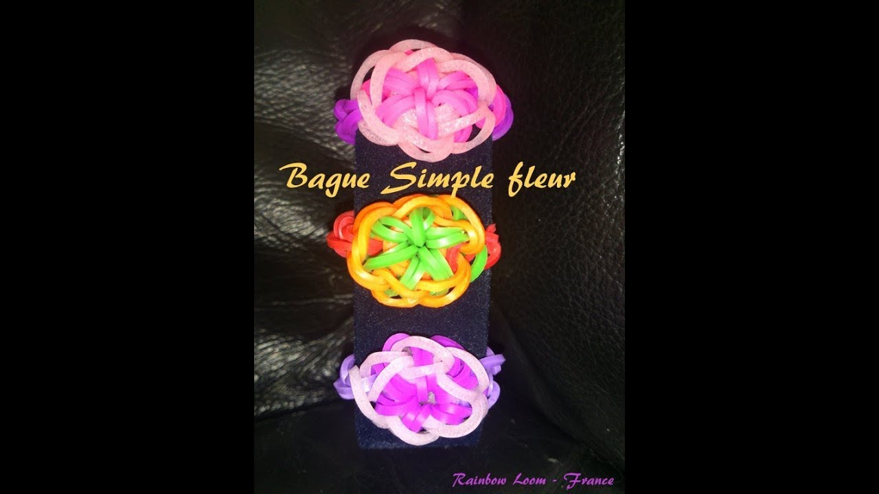 Tuto bague simple rainbow loom