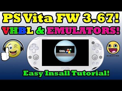 PS Vita 3.67! VHBL & Emulators INSTALLATION! With PSP DEMO Install!
