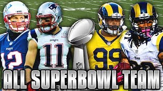 ALL SUPER BOWL TEAM! RAMS & PATRIOTS COMBINED! Madden 19 Ultimate Team