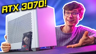 My STUNNING ITX RTX 3070 Gaming PC Build 2020! (Ryzen 7, NR200 w/ 4K Gameplay Benchmarks)  #AD