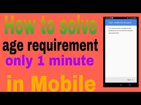 📱How to solve minimum age requirement in Gmail account in Mobile (in Hindi)