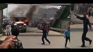 Jadibuti Accident Tripper and Scotter - पुलिसले देखाए पेस्तोल मान्छे भागाभाग