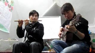 Giấc mơ trưa - sáo trúc Cao Trí Minh - guitar Phan Anh. ngày 12.01.2012.MOV