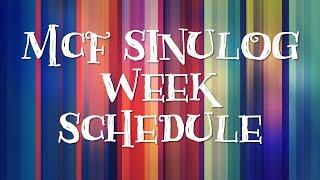 MCF Sinulog Week Schedule