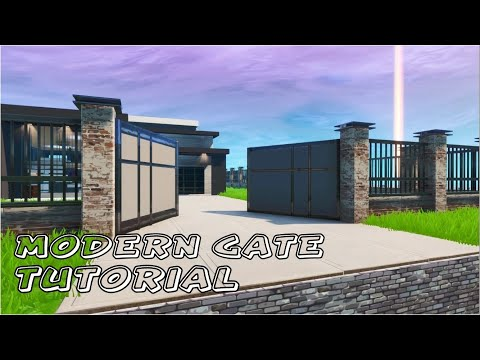 Modern House In Fortnite | Fortnite Creative Tutorial - Fence + Gate Entrance (Fortnite Creative)