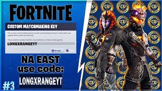 CUSTOM MATCHMAKING NA EAST CODE ILOVELR FORTNITE PART 3 | Supporter ID Longxrange #AlwaysWorking