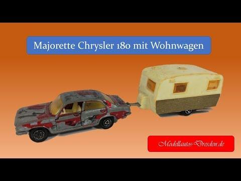 #12 Chrysler 180 Mit Sterckeman Wohnwagen Von Majorette Restored Restaurieren Kommentar Auf Deutsch
