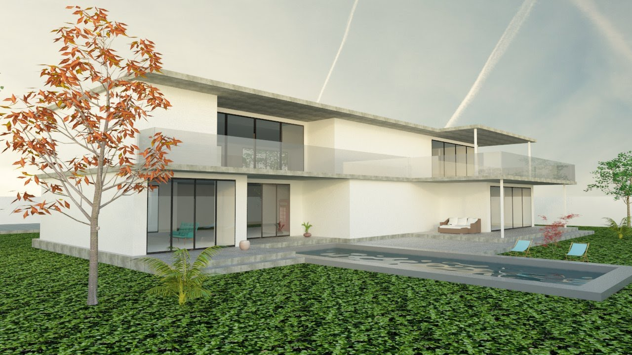 "Modern House -""pool House""-inspiration Google SketchUp"