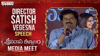 Director Vegesna Satish Speech @ Kalyanam Media Meet Live || Nithiin, Raashi Khanna