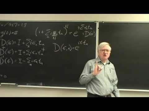 Lecture of 23 January 2018 on Physical Mathematics at UNM by
