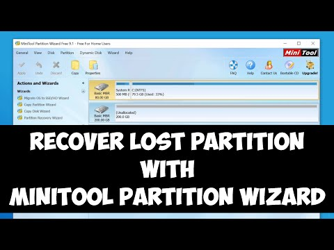 Recover lost partition on Windows with MiniTool Partition Wizard