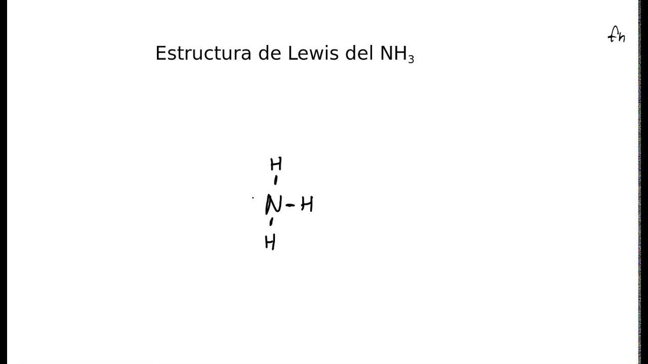 Estructura De Lewis Del Amoniaco Nh3